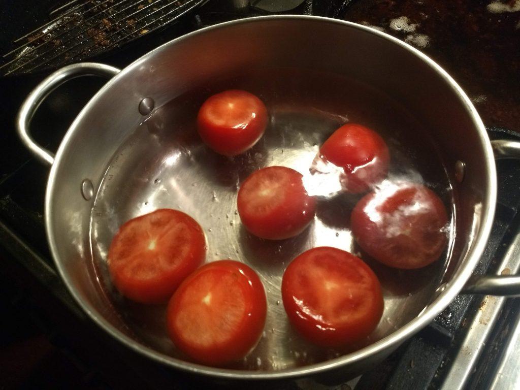 tomatoes blanching