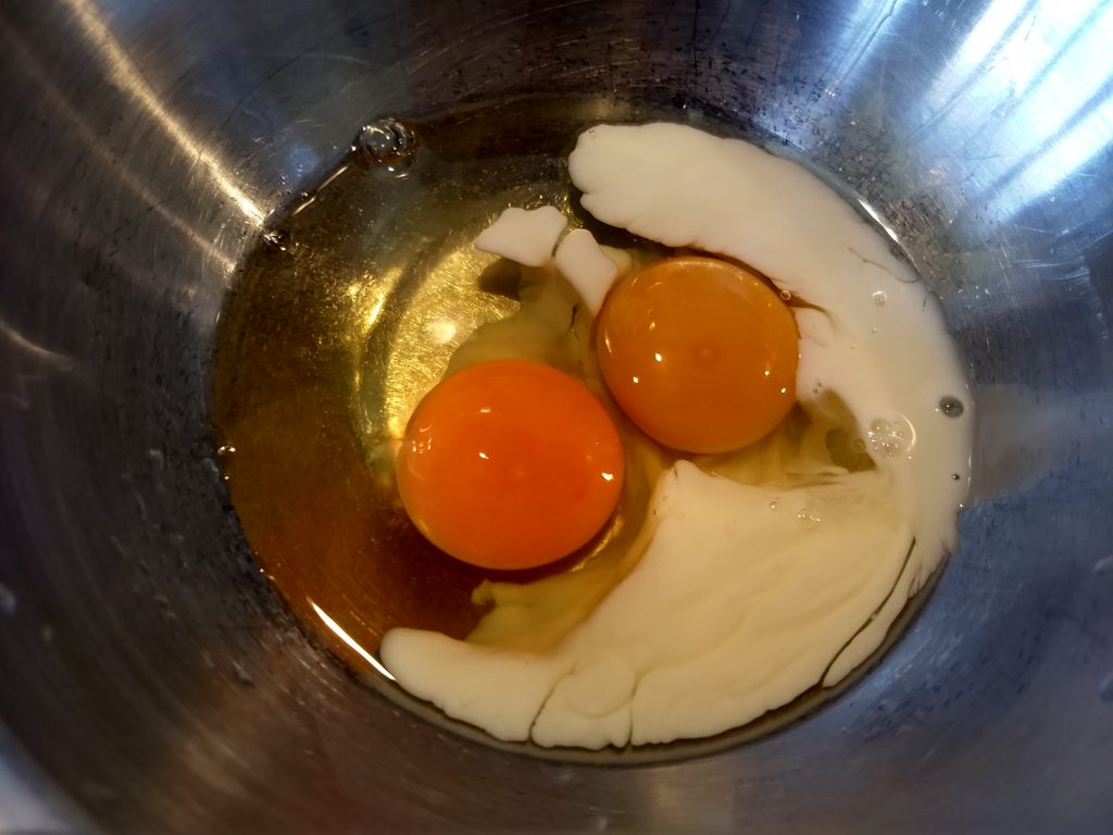 eggs about to be scrambled.
