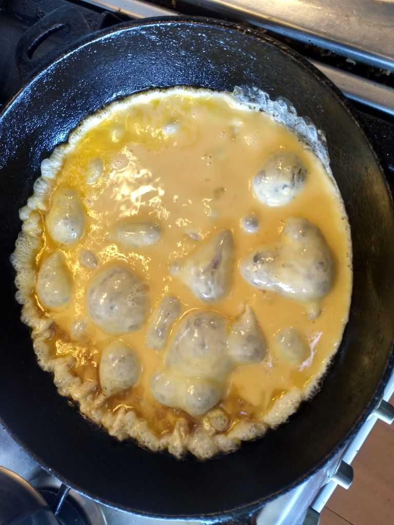 eggs in a pan