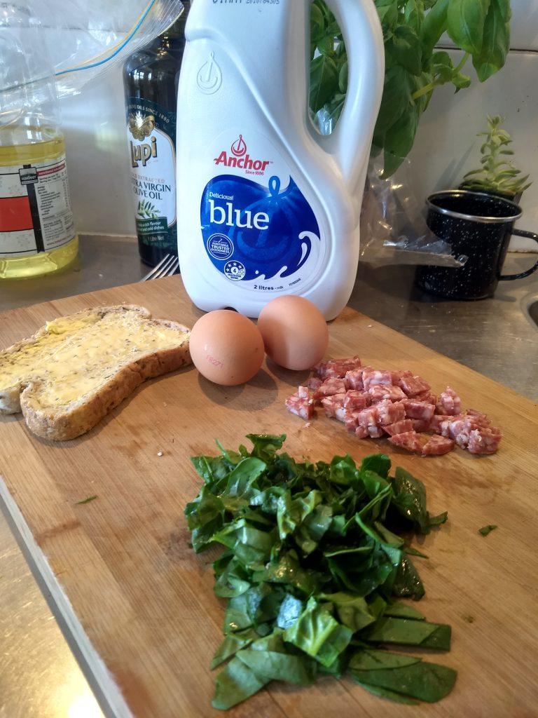 scrambled eggs on toast ingredients