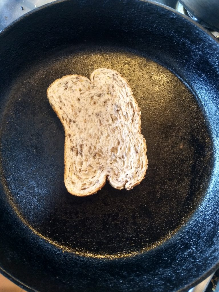 toast in a skillet